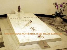 Deixe sua mensagem JOÃO PAULO II.