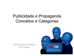Publicidade e Propaganda Conceitos e Categorias