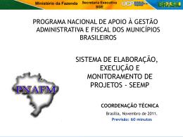 Apresentação Coordenação Técnica UCP - SEEMP