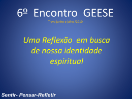6 Encontro do GEESE - regional Litoral Centro
