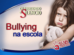 Bullying na escola - veradedivino