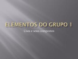 Elementos do grupo 1 - Colégio Dom Feliciano