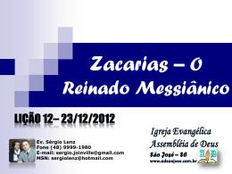 Zacarias - O Reinado Messiânico