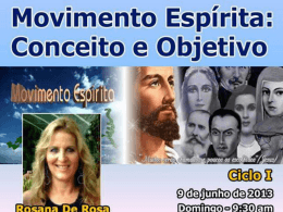 Movimento Espírita - Conceito e Objetivo