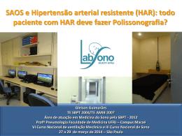 SAOS e Hipertensão arterial resistente (HAR)