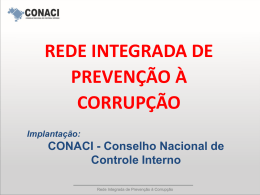 Apresentação Rede Integrada de Combate à Corrupção