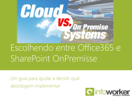 Escolhendo entre Office365 e SharePoint OnPremisse