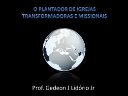 Palestra Pr. Gedeon Lidório (sábado)