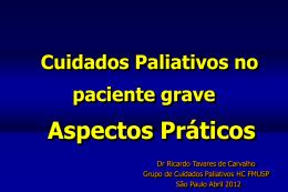 Ricardo Tavares de Carvalho - Cuidados Paliativos no