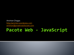 Pacote Web - JavaScript