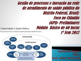 Cronograma 2012 do: Gestão de processos e