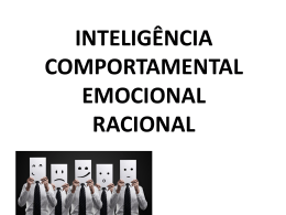 INTELIGÊNCIA COMPORTAMENTAL