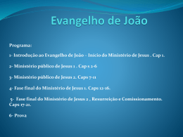 1- Introdução ao Evangelho de João