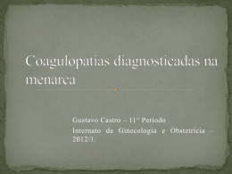 Coagulopatias diagnosticadas na menarca - GO