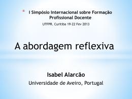 Painel_5_Isabel_Alarcao - I Simpósio Internacional Sobre