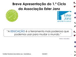 1.º ciclo - Ester Janz