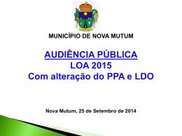 apresentação loa 2015 com alteração PPA e LDO