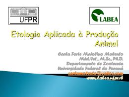 Etologia Aplicada à Produção Animal - Etologia Zootecnia