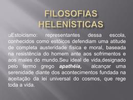 Filosofias helenísticas