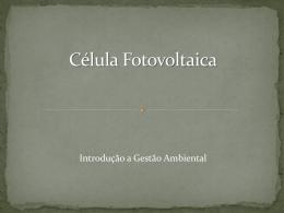 Célula Fotovoltaica - Fernando Santiago dos Santos