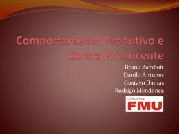 Comportamento Produtivo e Contra Producente