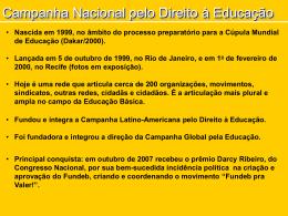 HistoricoCampanha_7E.. - Campanha Nacional pelo Direito à