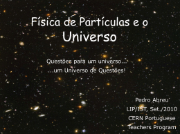 Particle Physics and the Universe - Indico