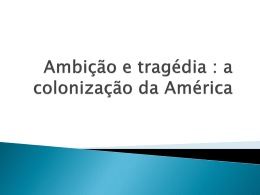 Ambição e tragédia : a colonização da América