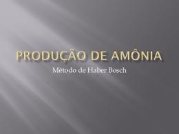 Produção de Amônia - Colégio Dom Feliciano