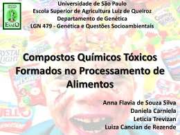 Compostos tóxicos formados no processamento de alimentos