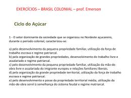 exercícios colonia açucar ouro2013