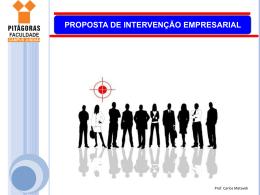 proposta de intervenção empresarial