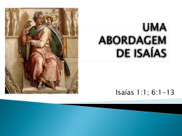 UMA ABORDAGEM DE ISAÍAS - Convenção Batista Fluminense