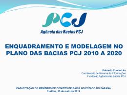 enquadramento e modelagem no plano das bacias pcj 2010 a 2020