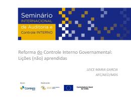 Comentário - Reforma do Controle Interno Governamental: Lições