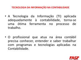 tecnologia da informação na contabilidade