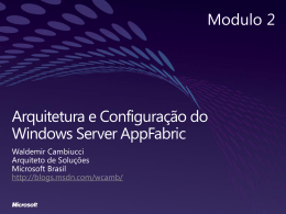 Windows server appfabric - Center