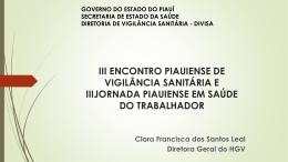 palestra divisa - Secretaria de Estado da Saúde do Piauí