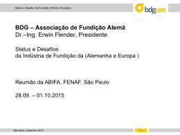 Produtores de Fundidos Europeus 2014 - Foundry