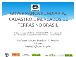 Governança Fundiária Brasileira e o Mercado de Terras Rurais
