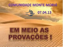 Mt 06.25-34 – Confiança X Ansiedade – 070413