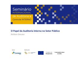 Palestra - O Papel da Auditoria Interna no Setor Público