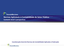 Normas aplicáveis à Contabilidade no Setor Público