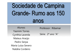 Tema : Sociedade de Campina Grande