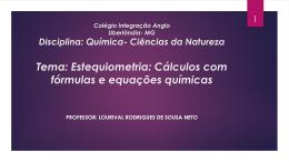 Estequiometria - Colégio Integração Minas