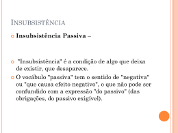 Insubsistência Passiva