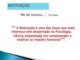 A MOTIVAÇÃO - Universidade Castelo Branco