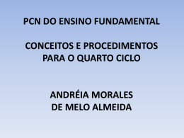 pcn do ensino fundamental conceitos e procedimentos para o