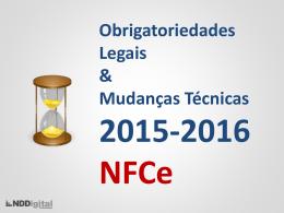 Obrigatoriedades 2015