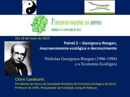 Georgescu-Roegen Apresentação CC